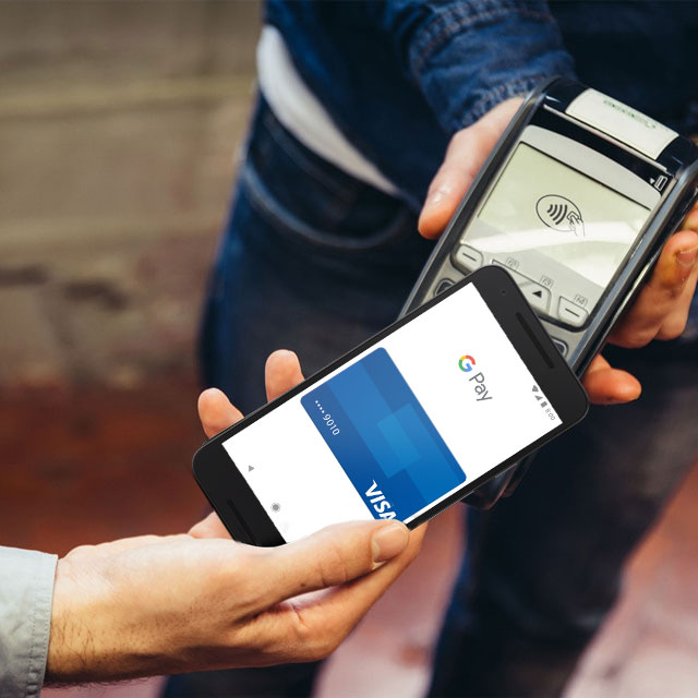 Visa Checkout con Google Pay dal telefono